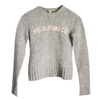 Polo Ralph Lauren Kids Grey Jumper Wool
