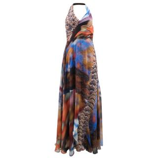Carlos Miele Multi-coloured Backless Gown