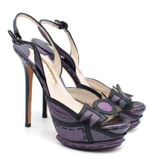 Sophia Webster Purple Platform Heels