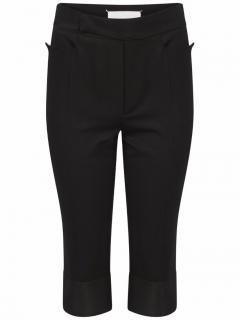 Maison Margiela Cropped Silk Trousers Black