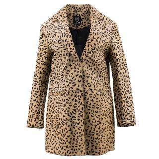 Alexander McQueen MCQ Leopard Print Coat
