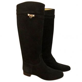 Hermes black riding boots
