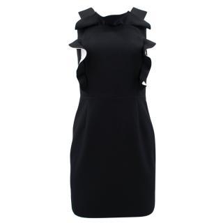 Claudie Pierlot black ruffled mini dress