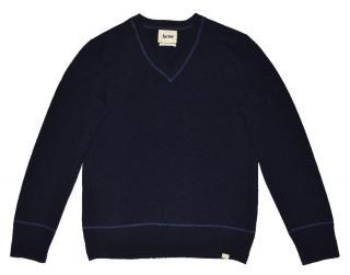 Acne men's navy lambswool v-neck sweater