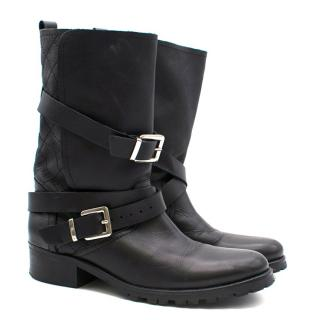Maje Black Biker Boots