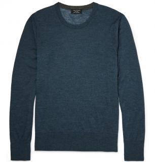 Rag and Bone men's blue 100% Cashmere sweater