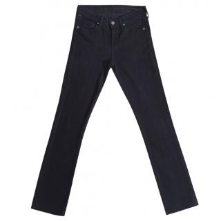 CITIZENS OF HUMANITY black straight leg stretchy jeans