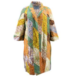 Prada Colourful Patchwork Print Coat