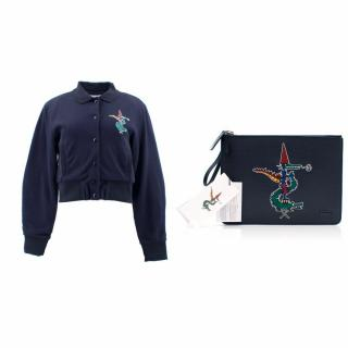 Lacoste by Jean Paul Goude Pouch and Bomber Jacket Set