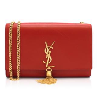 Saint Laurent Red Tassel Bag