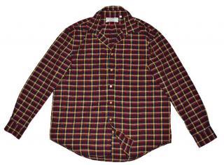 Saint Laurent Men's plaid cotton shirt
