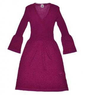 M Missoni purple wool knit dress