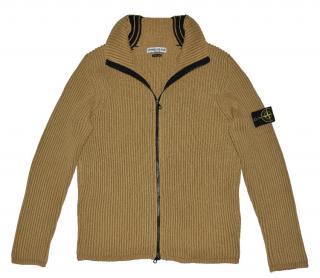 Stone Island Men's Brown Full Zip Sweater