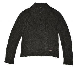 Burberry Men's Gray Acrylic Mohair Sweater