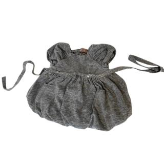 Monnalisa grey dress 0 - 3 months
