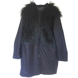 Jil Sander Navy Mongolian Style Coat