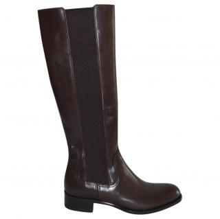 Rupert Sanderson Royton Brown Calf leather Knee Boots