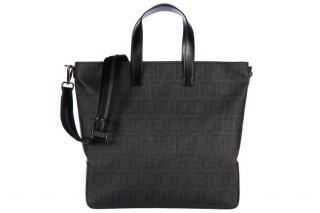 Fendi bag cross-body messenger new tote Zucca Leather Shiny Black