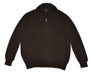 Louis Vuitton men's brown merino wool sweater