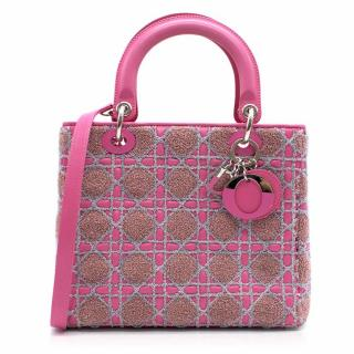 Christian Dior Tricolour Medium Lady Dior Bag