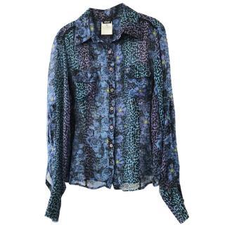Vercase animal and floral print shirt