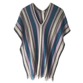 Missoni wooll blend poncho