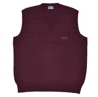 YSL Men's purple wool blend vest