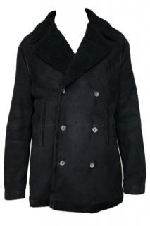 BRIONI Astrachan Leatherjacket /coat new black