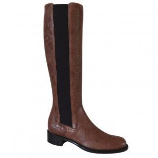 Rupert Sanderson Royton Eagle Tusk Bron Calf leather Knee Boots