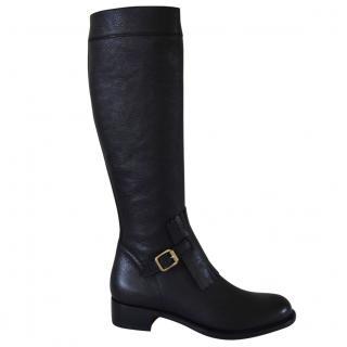 Rupert Sanderson Nero Black Calf leather Knee Boots