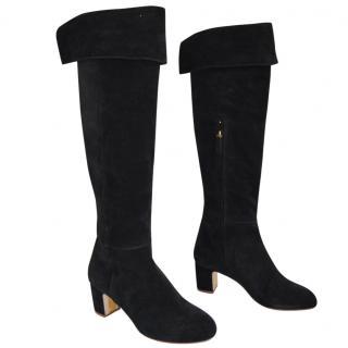 Rupert Sanderson  Brockwell Black Crosta Suede Knee Boots