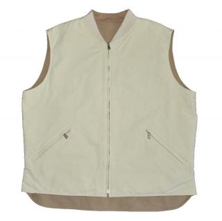 Loro Piana men's reversible Beige/Ecru quilted vest