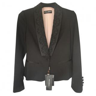 Dolce And Gabbana Lace Lapel Blazer