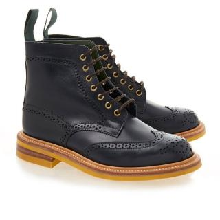 Trickers Stephy Navy Brogue Country Boot