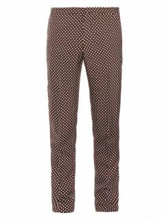 Jonathan Saunders Francis Chequered Silk-Blend Trousers