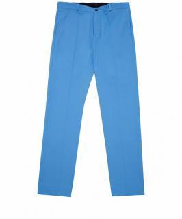 Jonathan Saunders Blue Flatfront Cotton Trousers