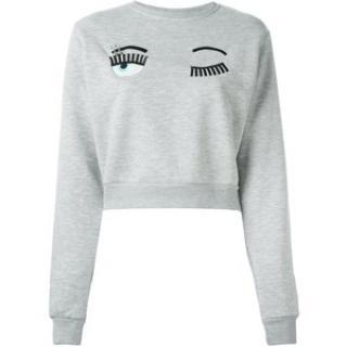 CHIARA FERRAGNI Grey Eyes Flirting Sweatshirt