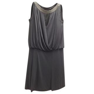 Alberta Ferreti grey evening dress