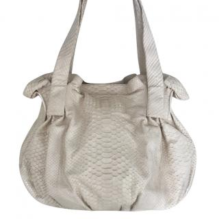 Zagliani Python Satchel Bag