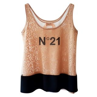 No.21 Gold Sequin Top