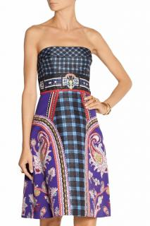 Mary Katrantzou Strapless Twill Dress