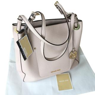 Michael Kors blush pink tote bag .