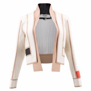 Fendi Cream Python Jacket