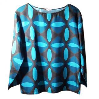 P.A.R.O.S.H. blue silk top