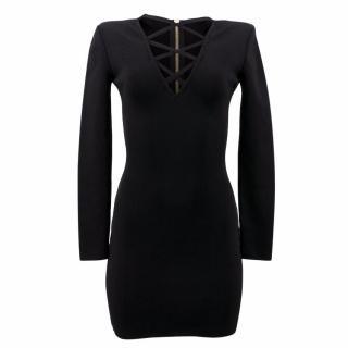 Balmain Black Bodycon Dress