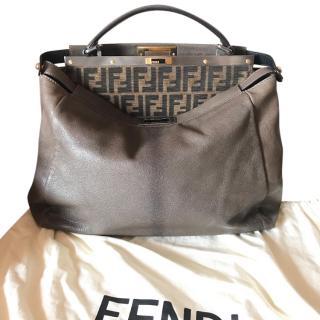 FENDI PEEKABOO taupe leather
