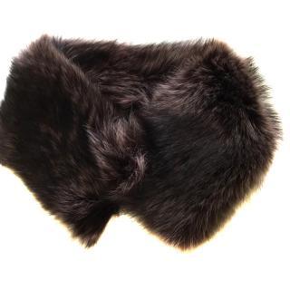 Marina Racoon Chocolate Fur collar