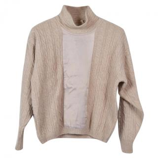 STUDIO 1000 by FERRE' Cable knit mockneck sweater