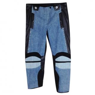 Rag And Bone Leather detailed jeans