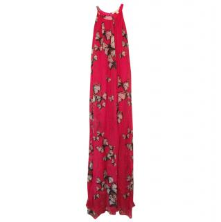 Erin Fetherston Silk butterfly pink maxi dress